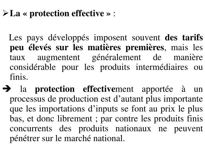 La «protection effective»