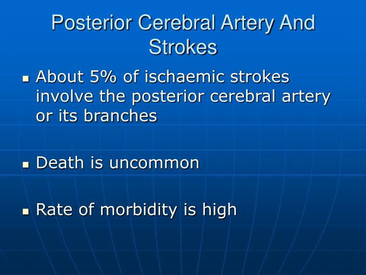 Posterior Cerebral Artery And Strokes