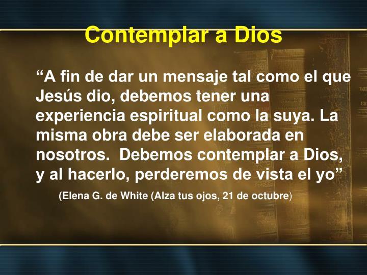 Contemplar a Dios