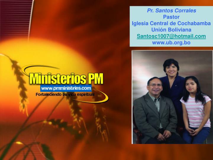 Pr. Santos Corrales
