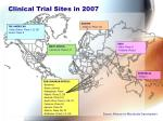 clinical trial sites in 2007