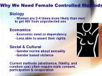 why we need female controlled methods