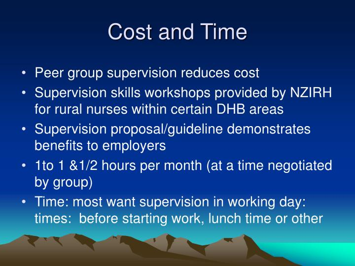 Cost and Time