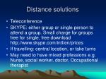 distance solutions