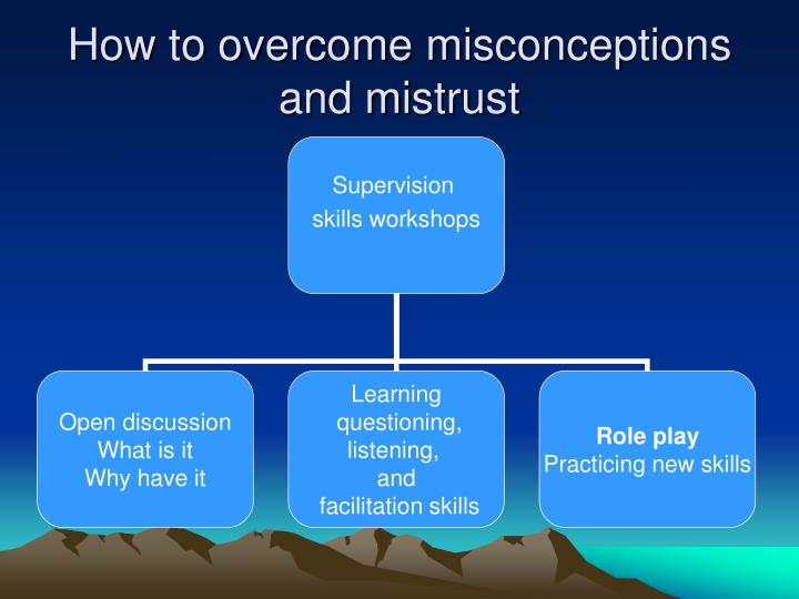 How to overcome misconceptions and mistrust