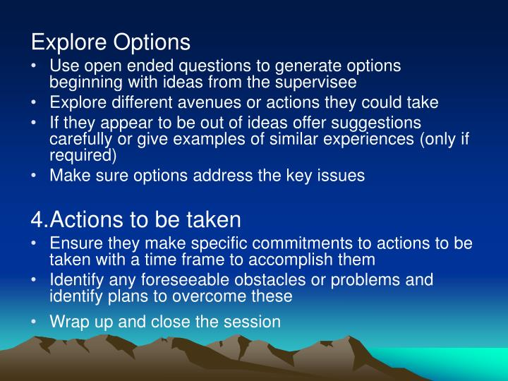 Explore Options