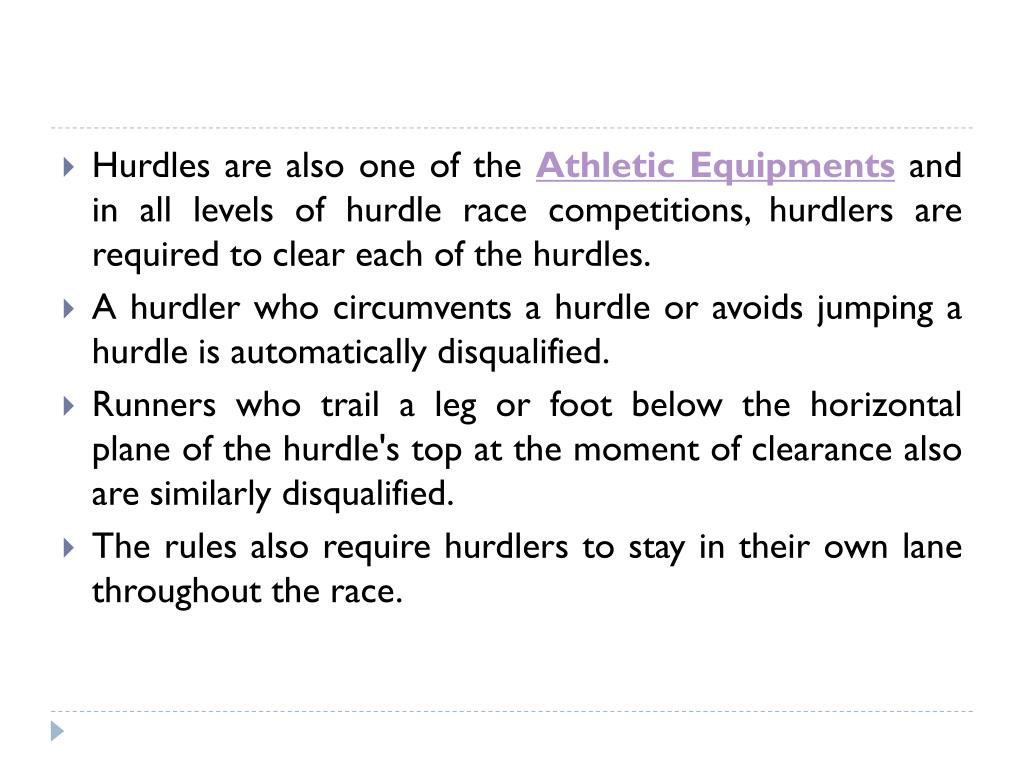 Hurdles are also one of the