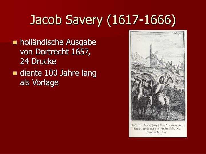 Jacob Savery (1617-1666)