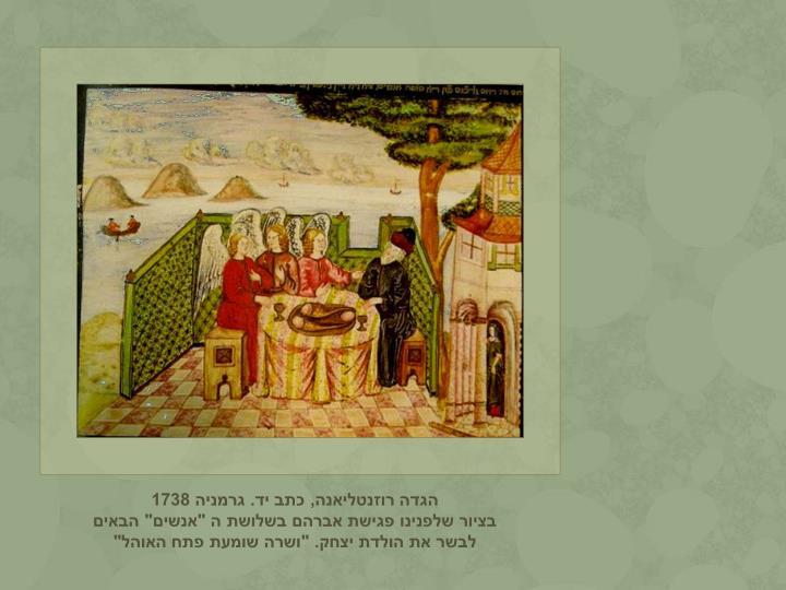 הגדה רוזנטליאנה, כתב יד. גרמניה 1738