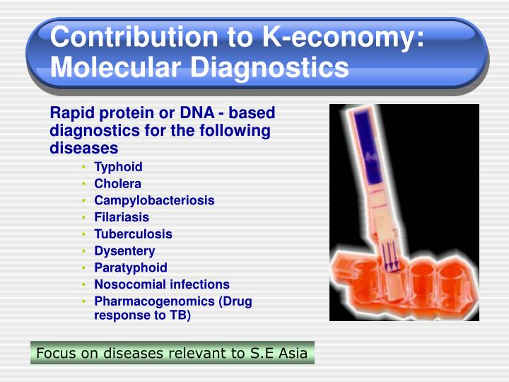 Contribution to K-economy: Molecular Diagnostics