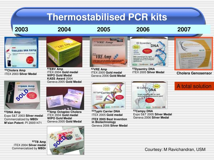 Thermostabilised PCR kits