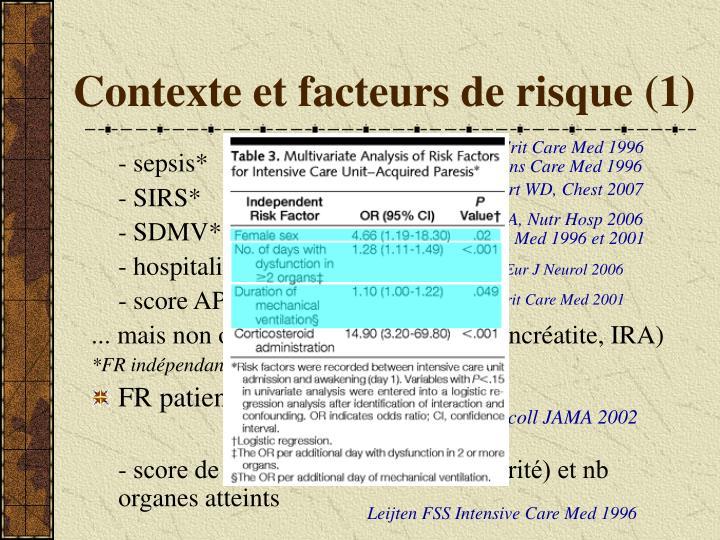 Contexte et facteurs de risque (1)