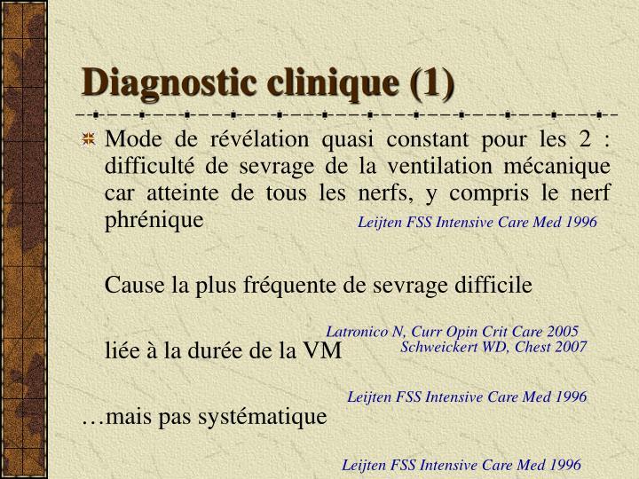 Diagnostic clinique (1)