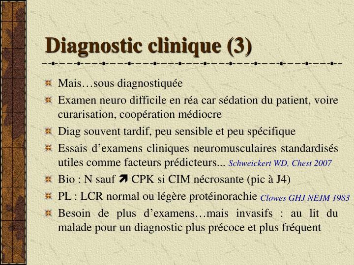 Diagnostic clinique (3)