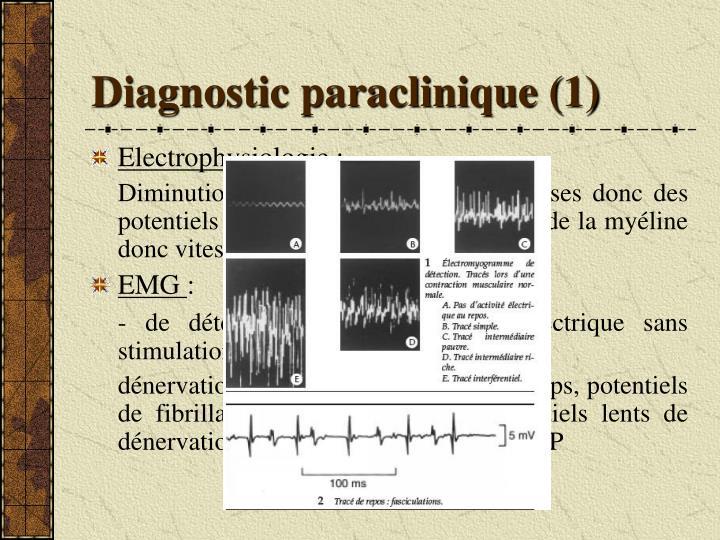 Diagnostic paraclinique (1)