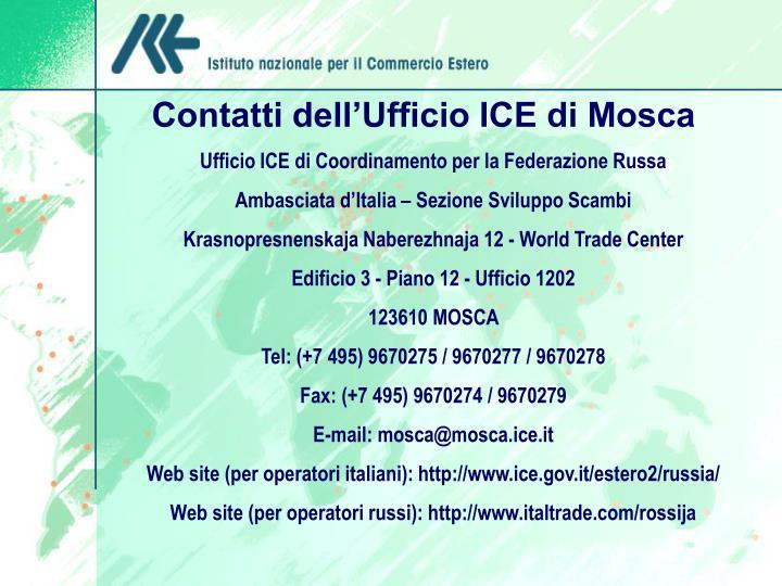 Contatti dell'Ufficio ICE di Mosca