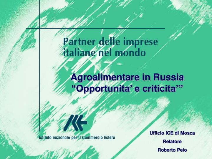 Agroalimentare in Russia