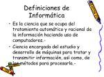 definiciones de inform tica