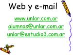 web y e mail