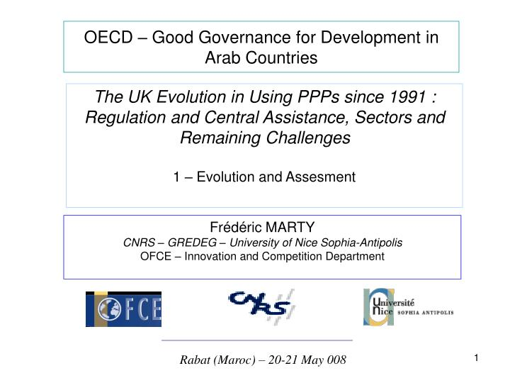 OECD – Good Governance for Development in Arab Countries
