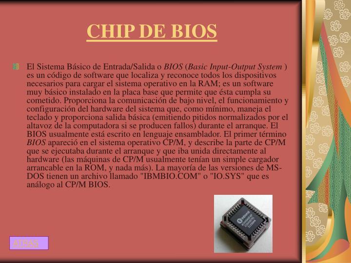 CHIP DE BIOS