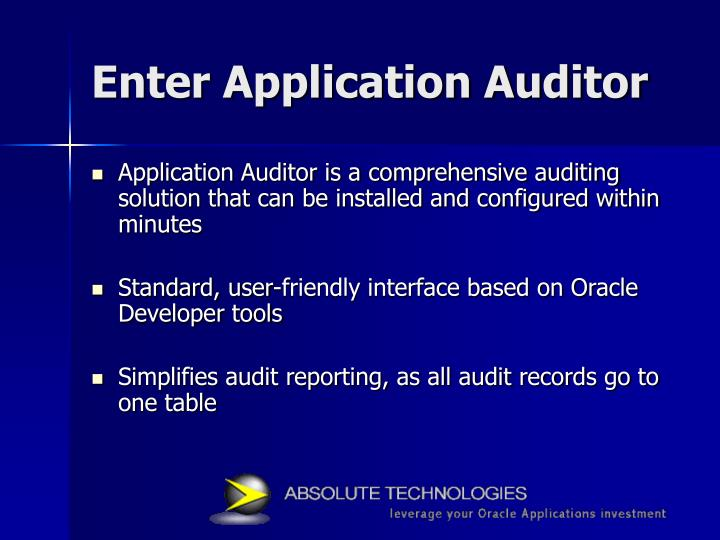 Enter Application Auditor