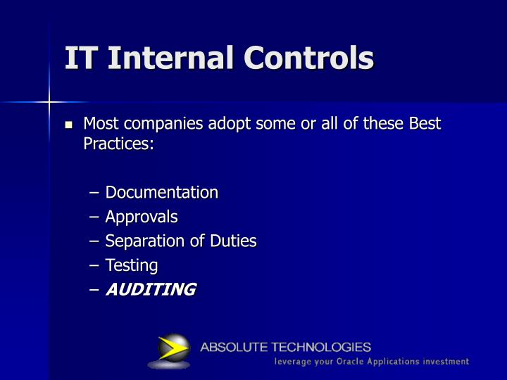 IT Internal Controls