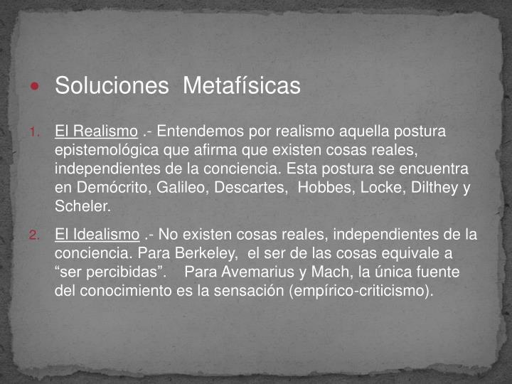 Soluciones  Metafísicas