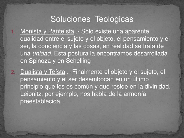 Soluciones  Teológicas