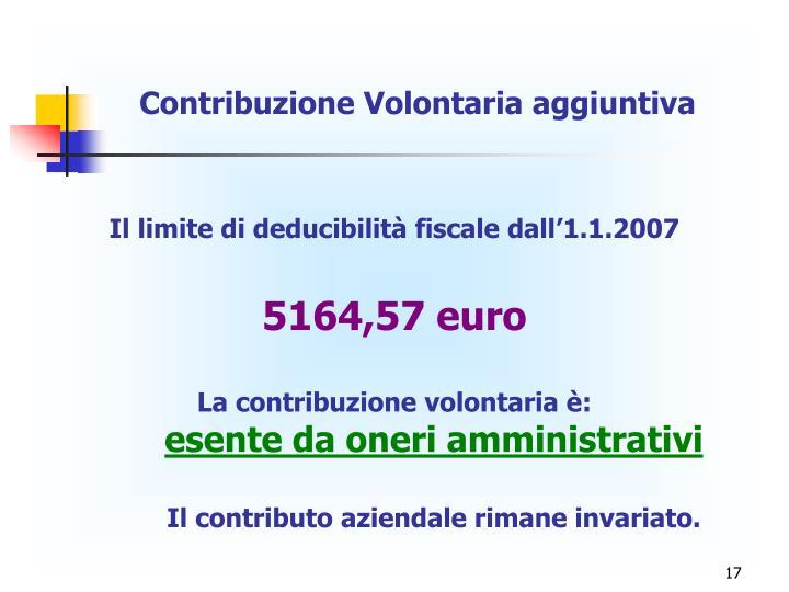 Contribuzione Volontaria aggiuntiva