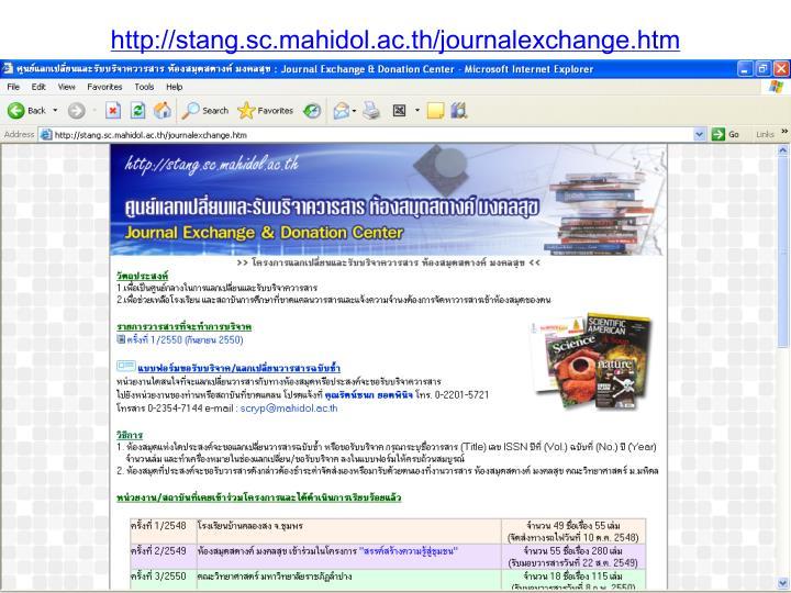 http://stang.sc.mahidol.ac.th/journalexchange.htm