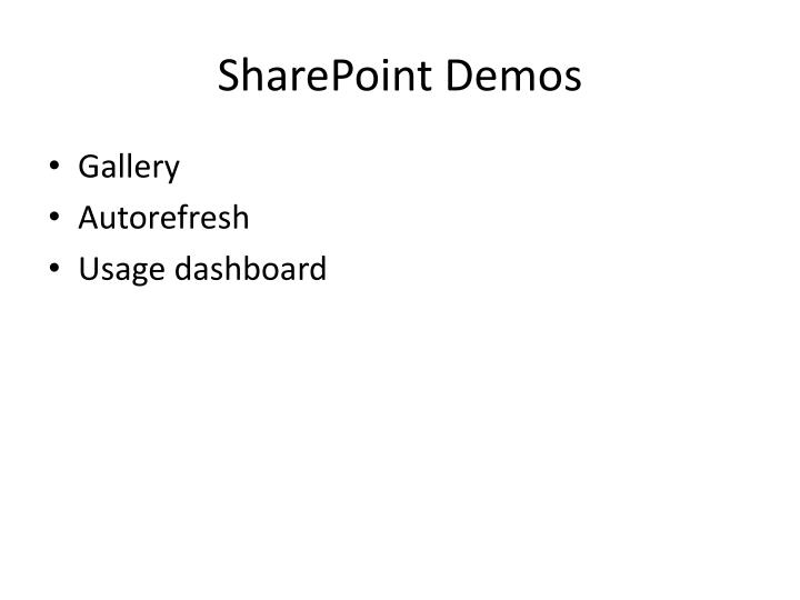 SharePoint Demos