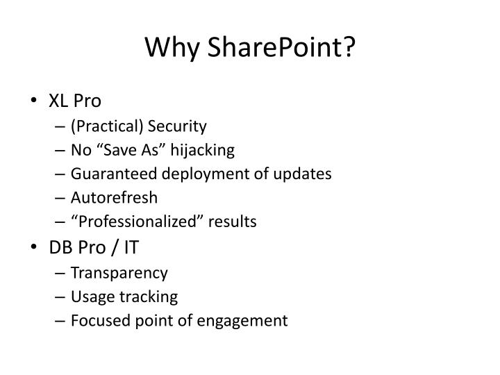 Why SharePoint?