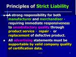 principles of strict liability