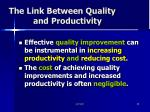 the link between quality and productivity