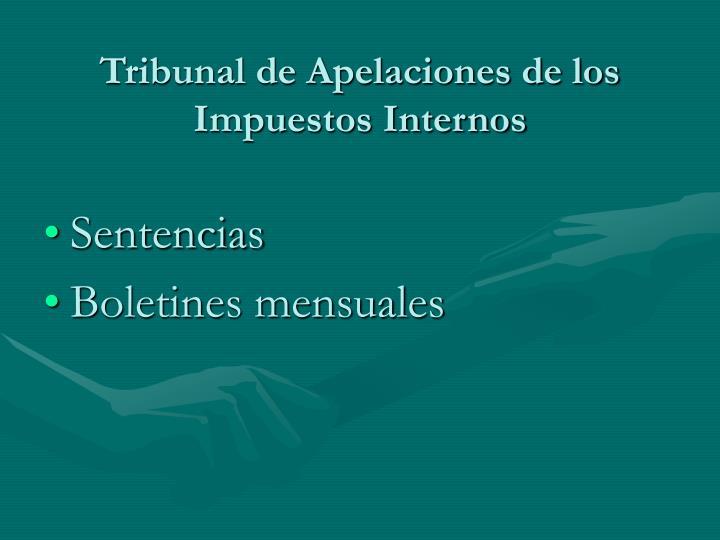 Tribunal de Apelaciones de los Impuestos Internos