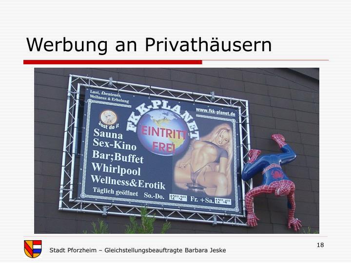 Werbung an Privathäusern