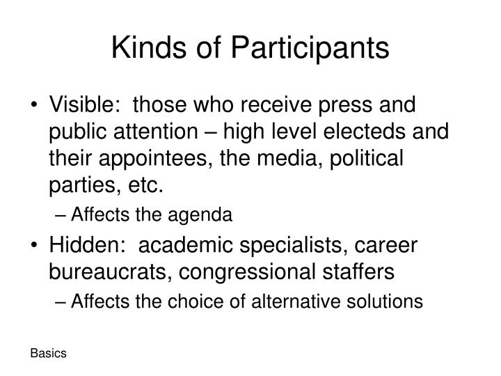 Kinds of Participants