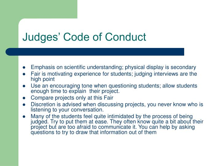 Judges' Code of Conduct