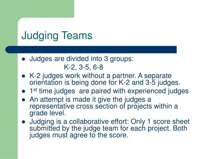 Judging Teams
