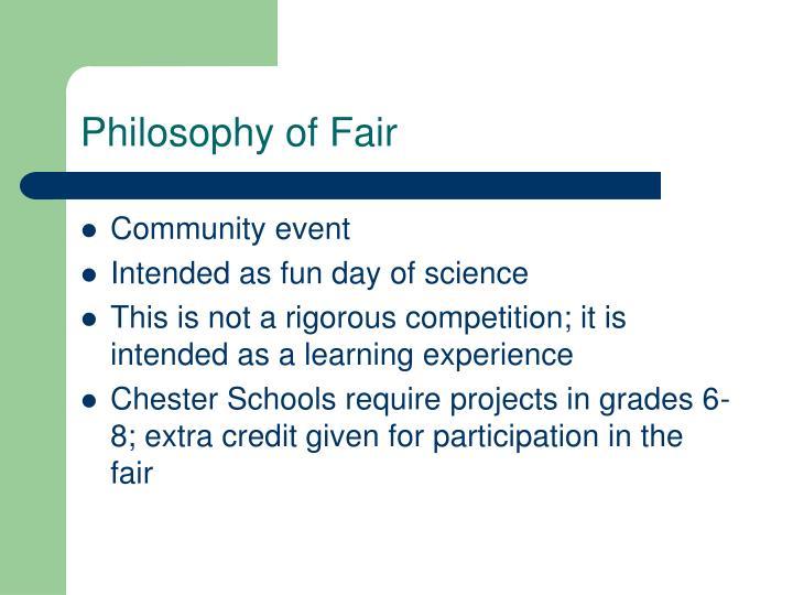 Philosophy of Fair