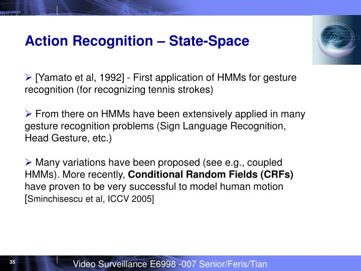 Action Recognition – State-Space