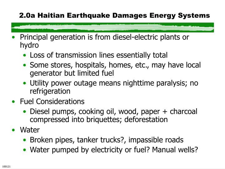 2.0a Haitian Earthquake Damages Energy Systems