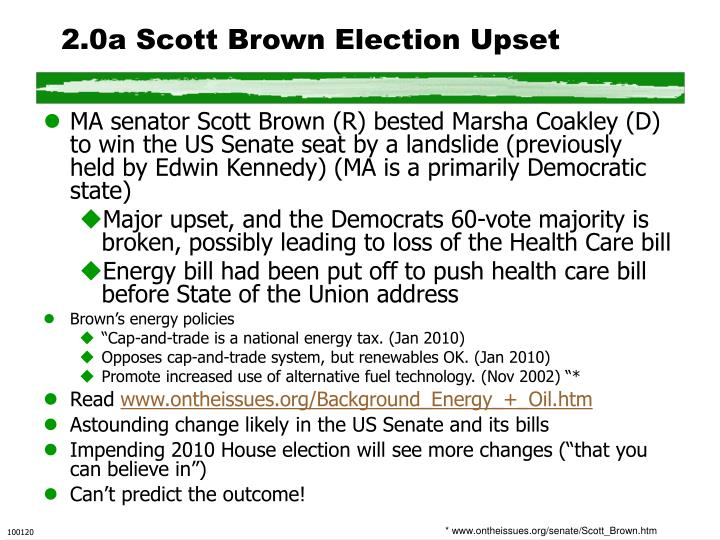 2.0a Scott Brown Election Upset