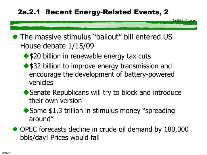 2a.2.1  Recent Energy-Related Events, 2