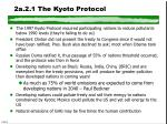 2a 2 1 the kyoto protocol