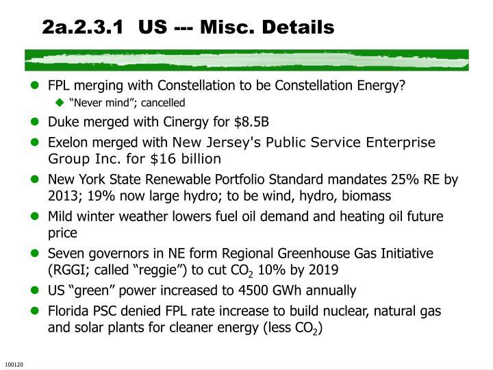 2a.2.3.1  US --- Misc. Details
