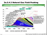 2a 2 4 3 natural gas field peaking