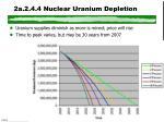 2a 2 4 4 nuclear uranium depletion