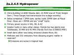 2a 2 4 5 hydropower